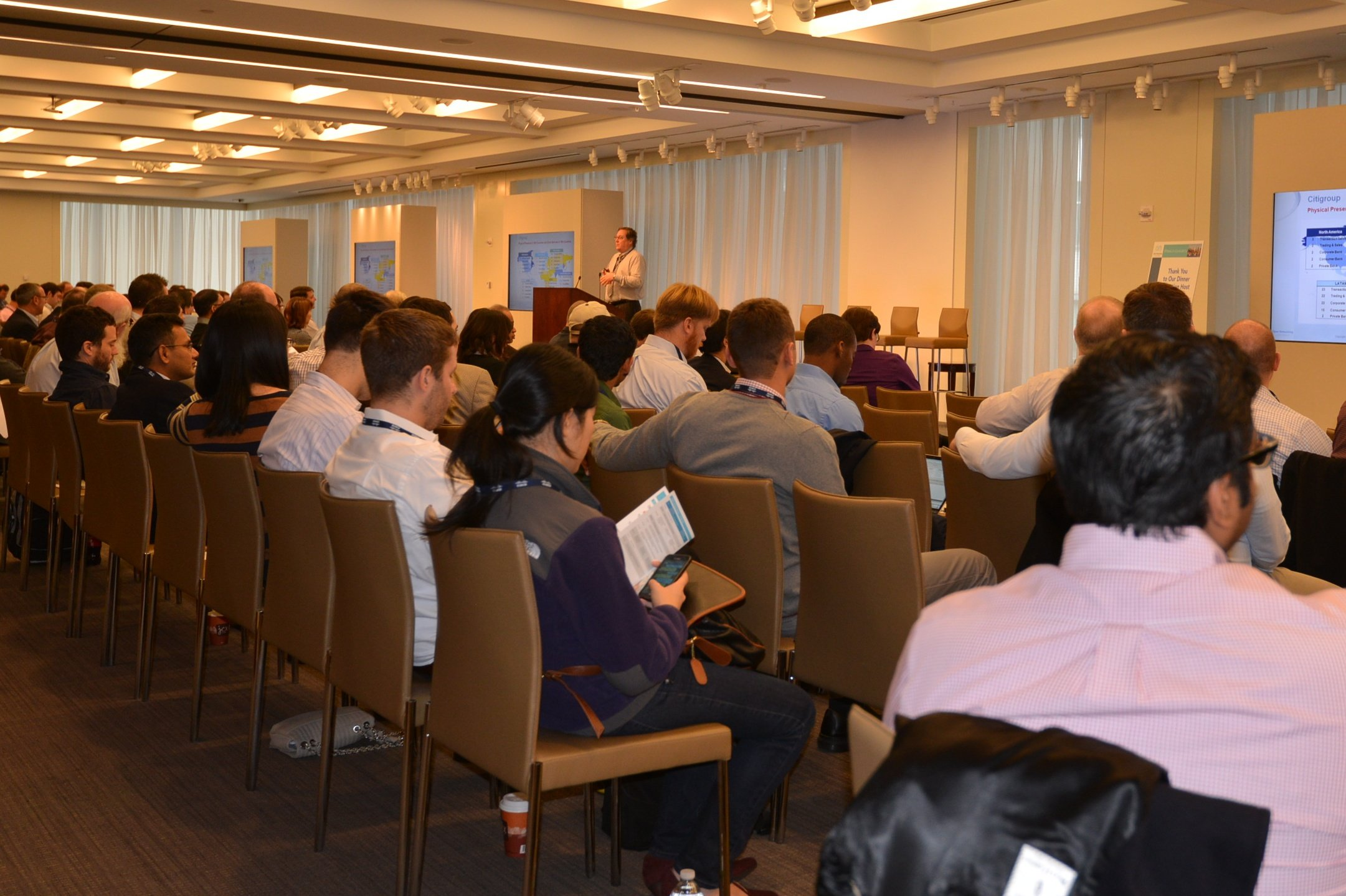 Greg Lavender delivering the Software-Defined Networking at Citigroup keynote
