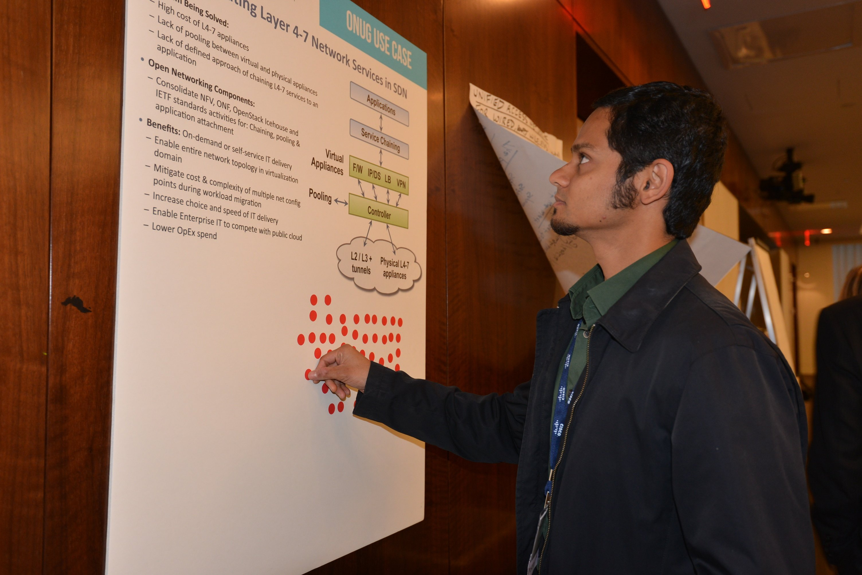Srini Seetharaman voting on one of the top three Open Networking Industry Requirements use cases