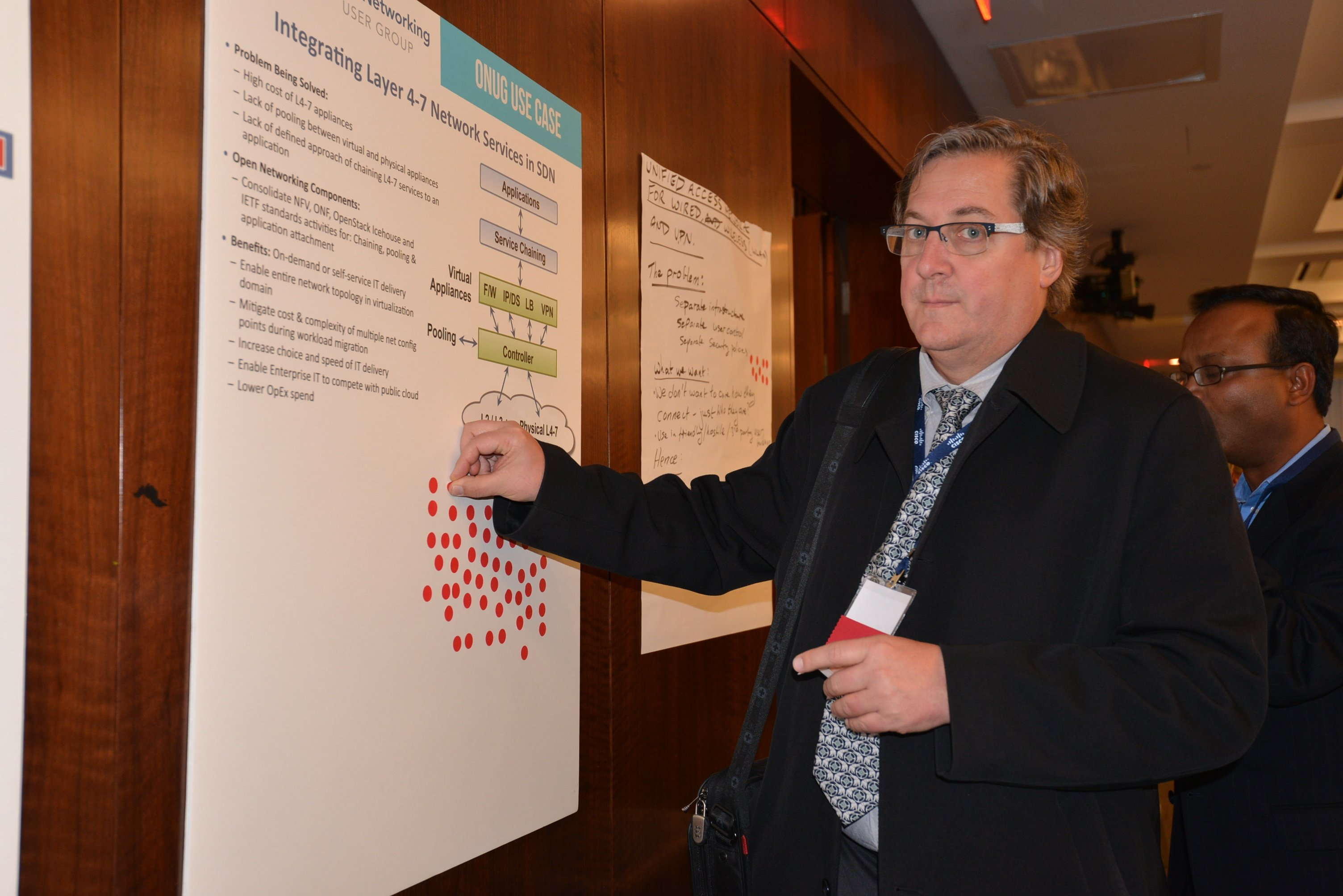 Greg Lavender voting on one of the top three Open Networking Industry Requirements use cases