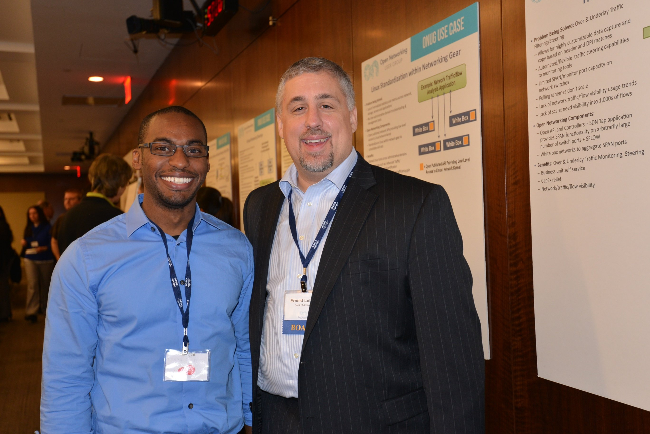 ONUG co-founder and co-chairman, Ernest Lefner poses with ONUG attendee