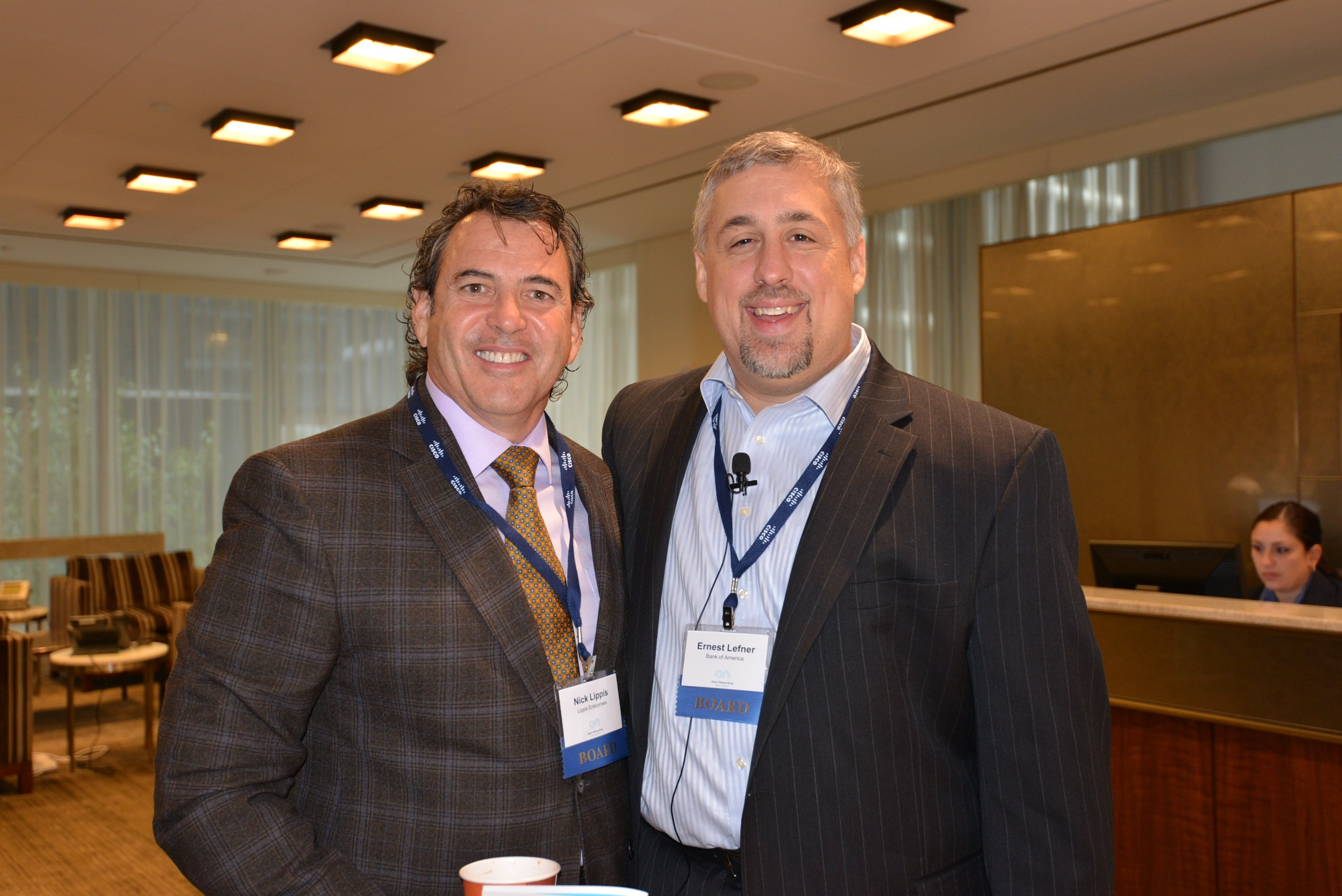 ONUG co-founders and co-chairmen, Nick Lippis and Ernest Lefner