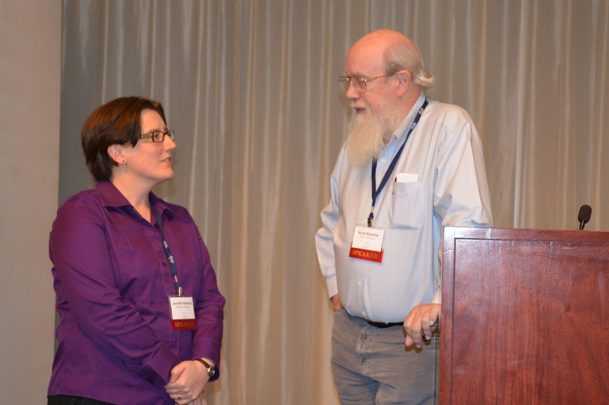 ONUG speakers Jennifer Rexford and Scott Bradner talk software-defined networking