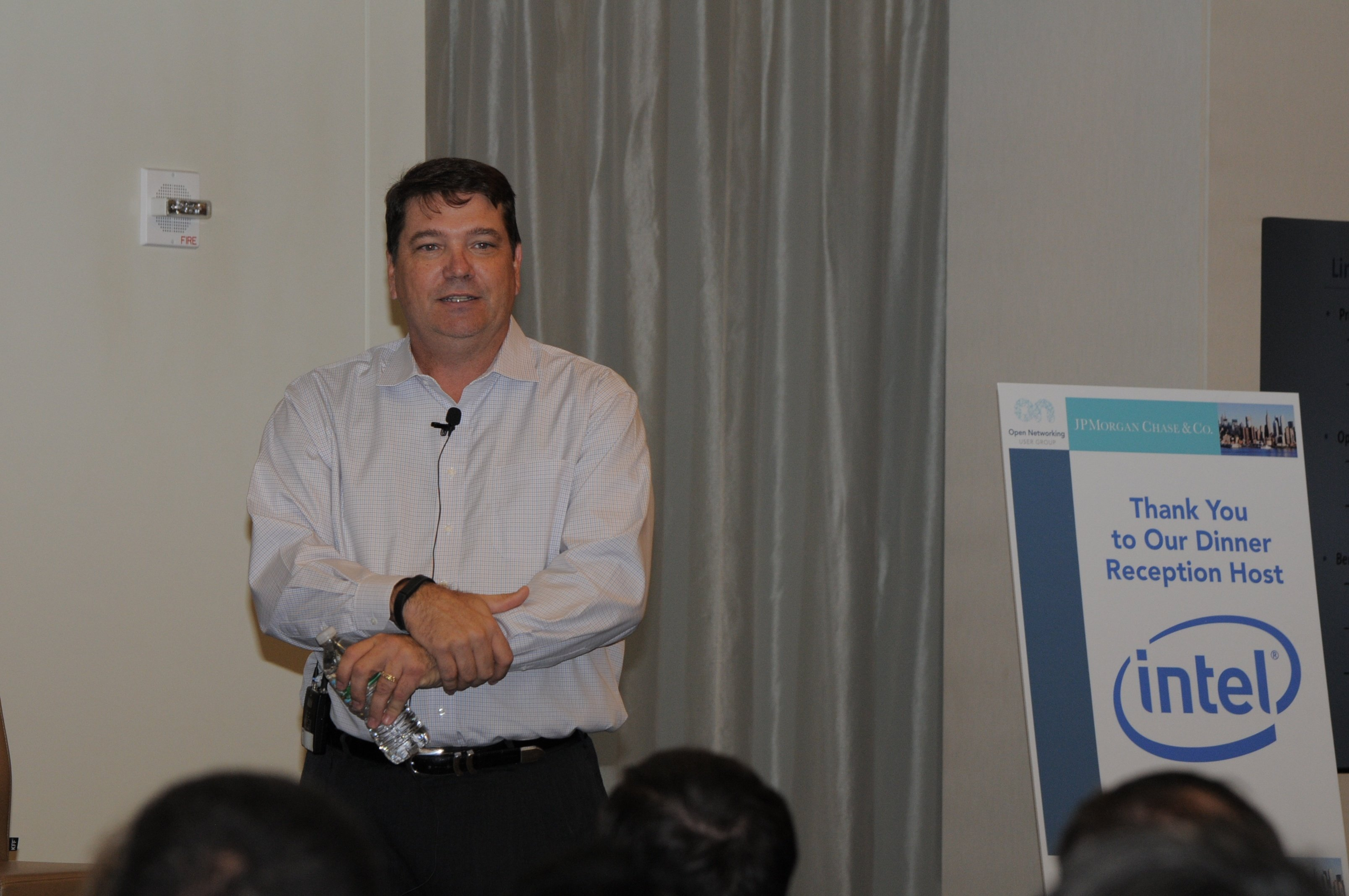 ONUG Board member, Keith Shinn, presents his use cases as a part of the ONUG Open Networking Industry Requirements panel
