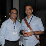 ONUG speaker, Najam Ahmad of Facebook with an ONUG attendee