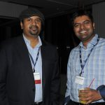 ONUG speaker, Subu Subrahmanyan with an ONUG attendee